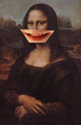 Mona Lisa laughing